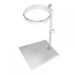 100489, Gulv affaldsstativ i rustfri stål fra Höcker – 120 liter
