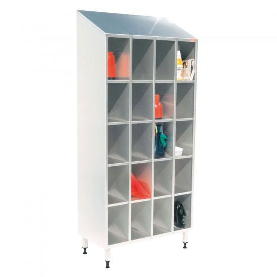 100711, Opbevaringsreol i rustfrit stål