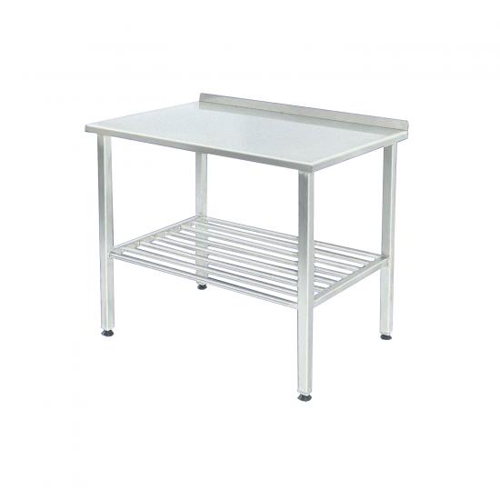 100787, Arbejdsbord i rustfrit stål med bagkant