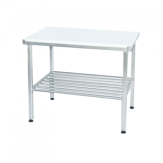 100791, Arbejdsbord i rustfrit stål med skæreplade
