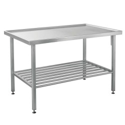 100803, Arbejdsbord i rustfrit stål med afløb
