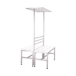 100814 Garderobe bænk fra Höcker i rustfri stål – dobbelt