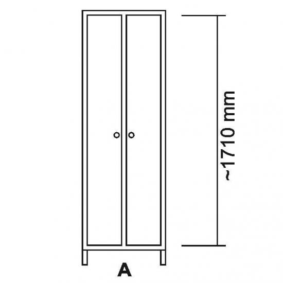 108467, Garderobeskab LF i rustfrit stål